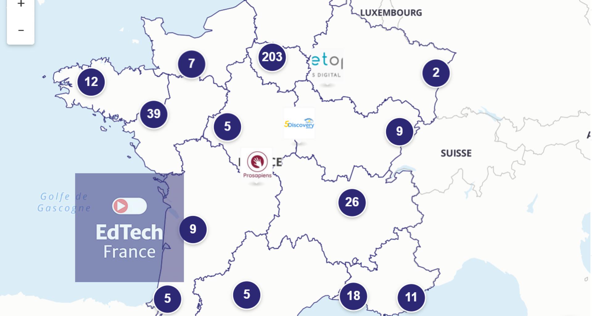 Cartographie membres Edtech France